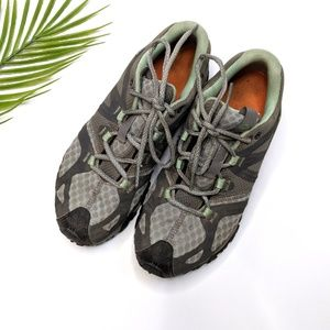 Merrell Granite/Mint Performance Hiking Sneakers